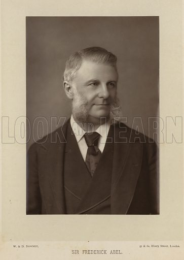 Sir Frederick Abel, English chemist, and an expert in explosives. Photograph by W & D Downey, 57 & 61 Ebury Street, London.