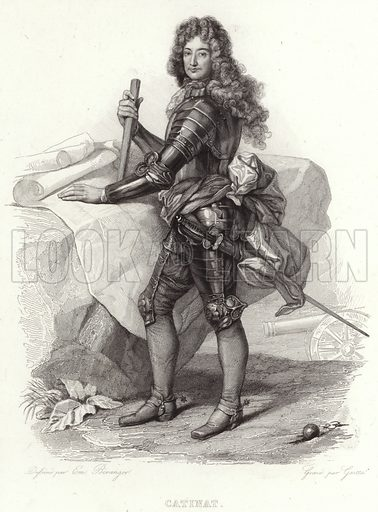 Nicolas Catinat, French military commander and Marshal of France. After Emmanuel Beranger, engraved by Gaitte.