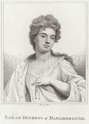 Sarah, Duchess of Marlborough. After Sir Godfrey Kneller, engraved by Rivers.
