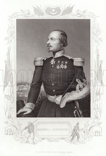 Francois Certain-Canrobert, Marshal of France. Drawn and engraved by DJ Pound. Published by the London Printing and Publishing Company.