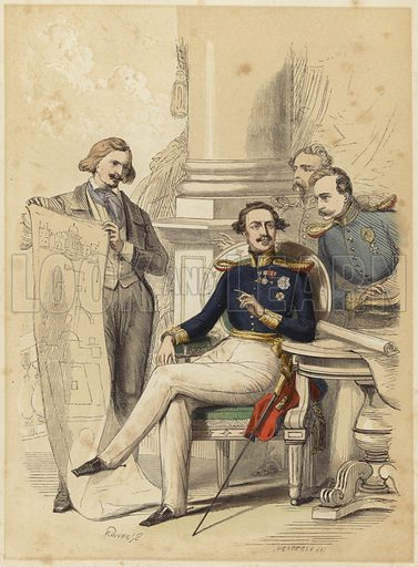 King Ludwig II of Bavaria. Engraved by Hendrick.