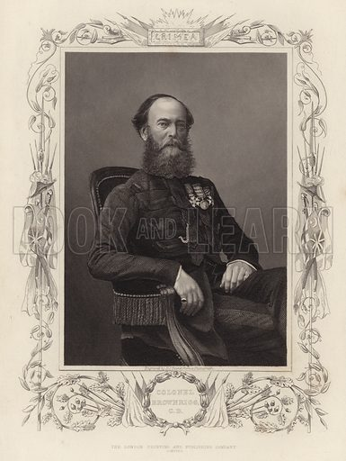 Robert Brownrigg, British statesman and soldier. Engraved by DJ Pound from a photograph. Published by the London Printing and Publishing Company Limited.