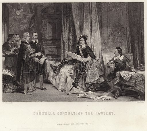 Cromwell consulting the lawyers