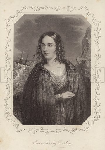 Grace Horsley Darling, English lighthouse keeper's daughter, famed for participating in the rescue of survivors from the shipwrecked Forfarshire in 1838.
