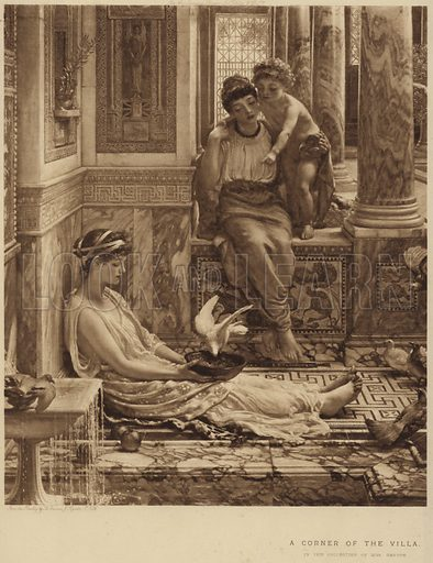 A Corner of the Villa, in the collection of Mrs Renton. After Sir Edward John Poynter.