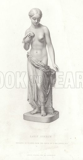 Early Sorrow. engraved by W Roffe, from the statue by Patrick MacDowell. Published for the proprietors, London.