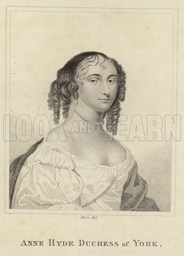 Anne Hyde, Duchess of York and Albany. Engraved by Rivers.