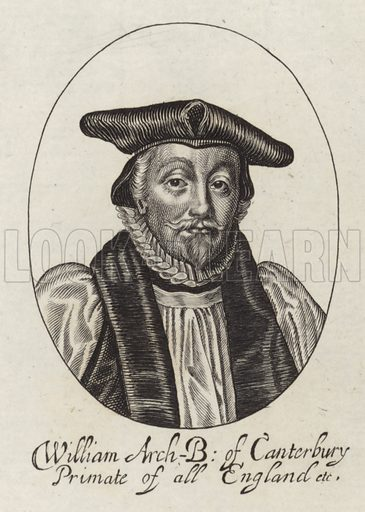 William Laud, Archbishop of Canterbury from 1633 to 1645. Sold by Robert Peake.