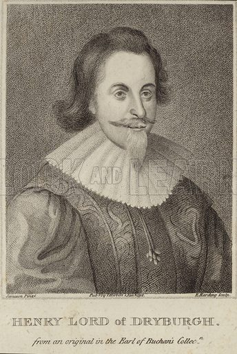 Henry Lord of Drybrugh. After Jameson, engraved by Harding. Published by Herbert, January 1708. From an original in the Earl of Buchan's collection.