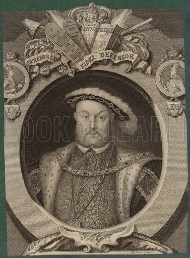 King Henry VIII, King of England. After Hans Holbein.