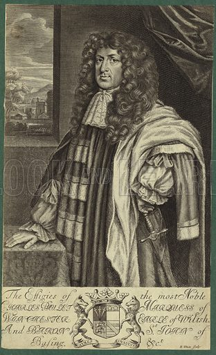 Charles Paulet, Marquess of Winchester, Earl of Wiltshire, and Baron St John of Basing. Engraved by R White.