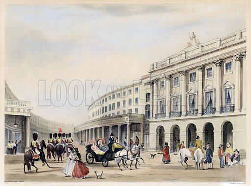 Quadrant, Regent Street, London. Drawn and printed by TS Boys.