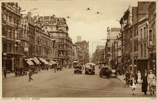 St Mary's Street in Cardiff.