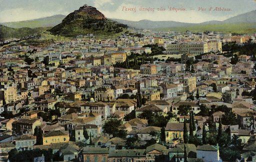 A view of Athens, Greece.