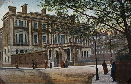 Hertford House, home of the Wallace Collection, in Manchester Square, Marylebone, London.