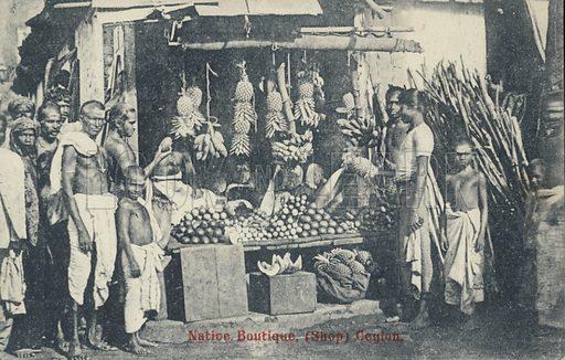 Native boutique in Ceylon.