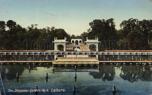 The Shalamar Garden in Lahore, Pakistan.