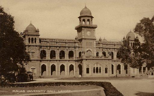 Punjab University Hall in Lahore, Pakistan.