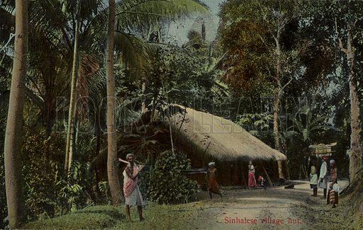 Sinhalese village hut in Sri Lanka.