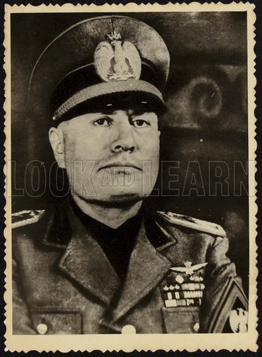 Benito Mussolini, Italian politician who led the National Fascist Party.