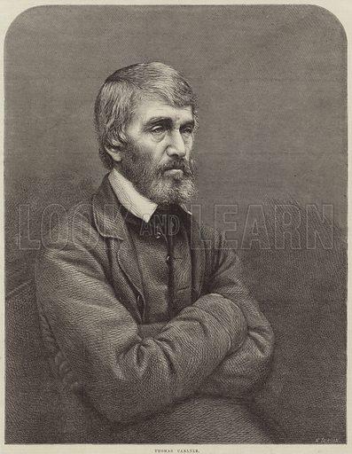 Thomas Carlyle, Scottish philosopher, satirist and historian.