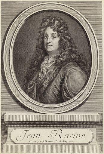 Jean Racine, French dramatist. Engraved by J Daulle, for the king, 1762.