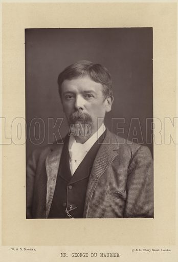George du Maurier, French cartoonist and author. Photograph by W and D Downey, 57 & 61 Ebury Street, London.
