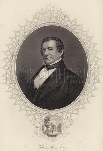 Washington Irving, American author, biographer, historian and diplomat. After John Plumbe.
