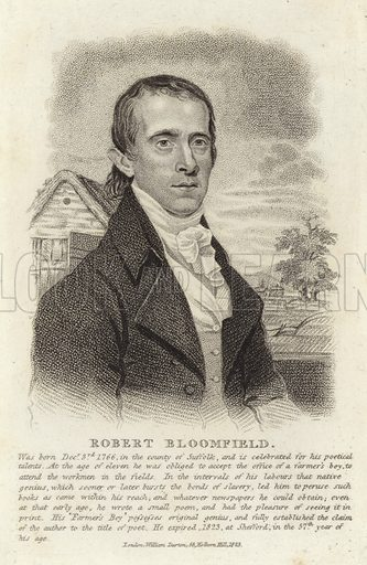 Robert Bloomfield, English poet. Published by William Darton, 58 Holborn Hill, London, 1823.
