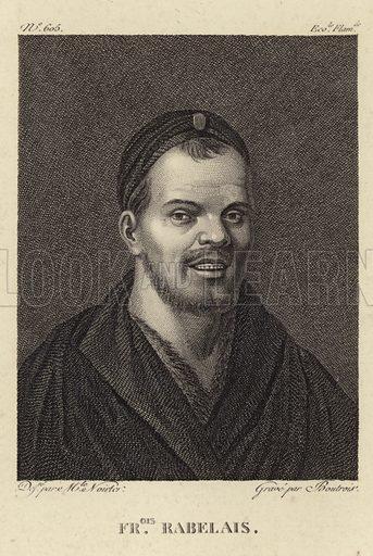 Francois Rabelais, French Renaissance writer, monk and Greek scholar. Drawn by Noirter, engraved by Boutrois.