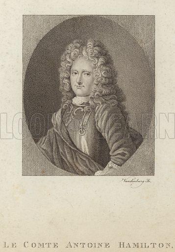 Anthony Hamilton, Irish writer, also known as Antoine Hamilton. Engraved by Vandenburg.