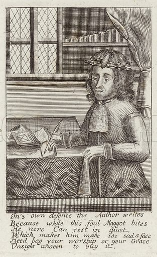 Samuel Wesley, English poet and clergyman of the Church of England. With a quotation form his book of poetry, entitled 'Maggots: or Poems on Several Subjects never before Handled', published in 1685.