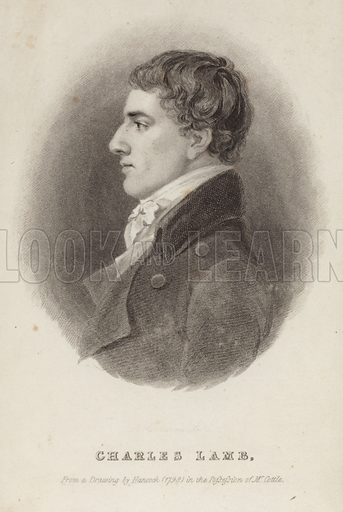 Charles Lamb, English essayist. From a drawing by Robert Hancock (1798) in the possession of Mr Cottle.