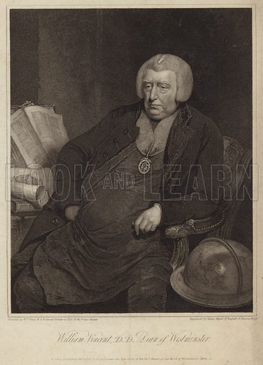 William Vincent, Dean of Westminster. After William Owen, engraved by Henry Meyer, Great Russell Street, Bloomsbury. Published on 4 February 1812 by R Ackermann, the Repository of Arts, 101 Strand, London, for his Work of Westminster Abbey.