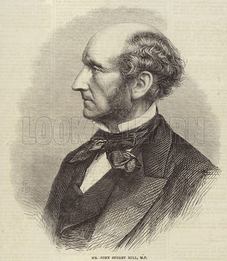 John Stuart Mill, British philosopher, political economist and civil servant. Published in the Illustrated London News 24 March 1866.