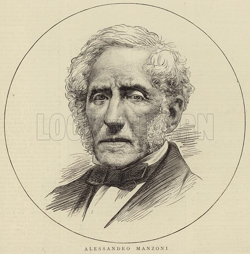 Alessandro Manzoni, Italian poet and novelist. Published in The Graphic, on 14 June (year unknown).