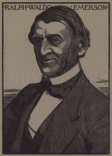 Ralph Waldo Emerson, American essayist, lecturer and poet.