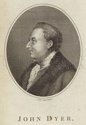 John Dyer, Welsh poet. Engraved by J Baker, Islington.