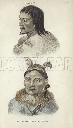 Portraits of a Copper Indian (top) and a Cluche, Rocky Mountain Indian.