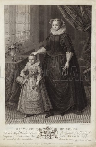 Portrait of Mary, Queen of Scots, and her son, James