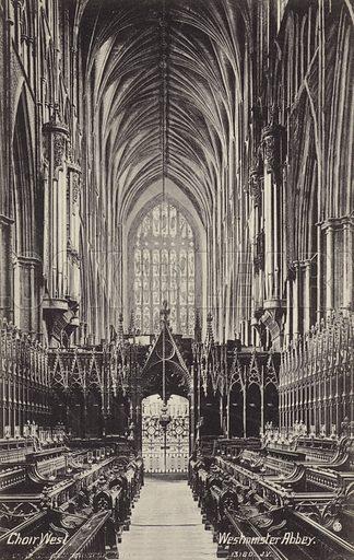 Westminster Abbey, Choir West.
