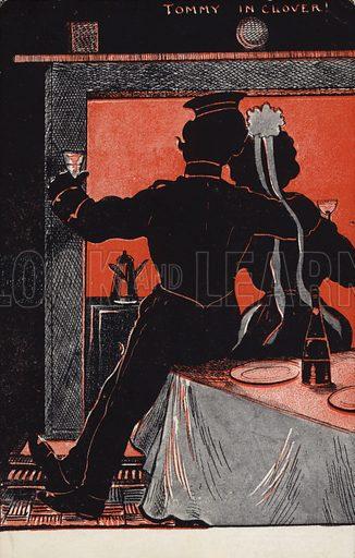 Tommy in Clover! Postcard, circa early twentieth century.