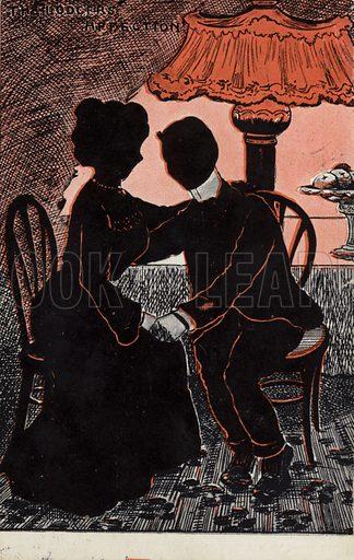 The Lodger's Affection. Postcard, circa early twentieth century.