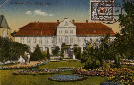 Abbot's Palace in Oliwa, a quarter of Gdansk (Danzig), Poland. Postcard, circa early twentieth century.