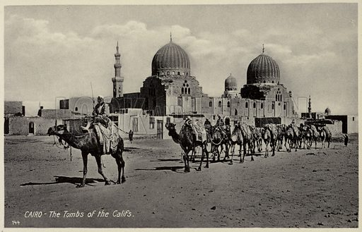 Cairo – The Tombs of the Califs. Postcard, circa early twentieth century.