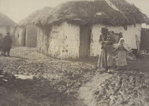 Gypsy homes in Skopje, Macedonia, c1920.