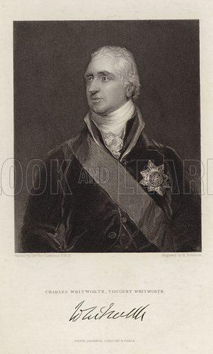 Charles Whitworth. 1st Earl Whitworth. The Lord Whitworth. The Viscount Whitworth. Engraved by H Robinson.