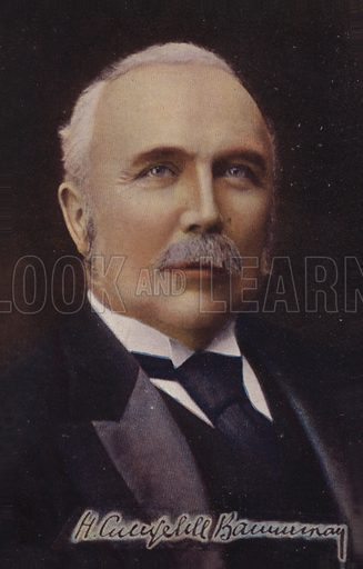 Henry Campbell-Bannerman (1836–1908). British Liberal Party politician who served as Prime Minister.