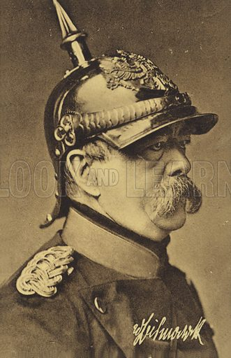 Otto von Bismarck (1815–1898). Conservative German statesman, unifying most of the German states into a powerful German Empire, known as the man of 'blood and iron.'.