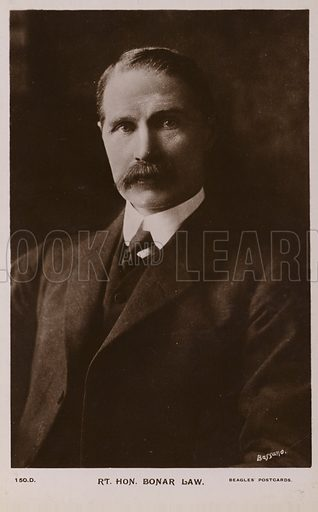 Bonar Law (1858–1923). British Conservative Party statesman and Prime Minister.